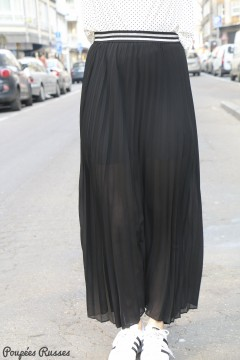 Jupe plissée noire
