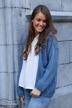 Gilet Nora bleu jeans
