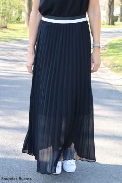 Jupe longue plissée noire