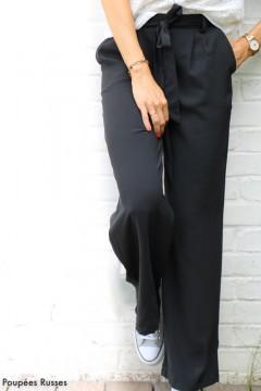Pantalon noir large