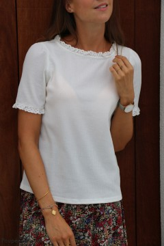 Blouse blanche col rond