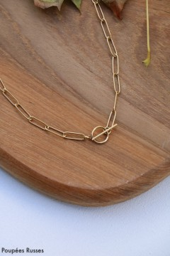 Collier barre en T