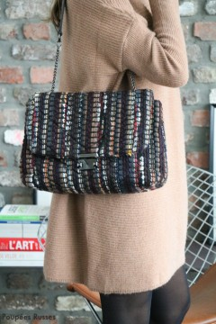 Sac tweed multicolore