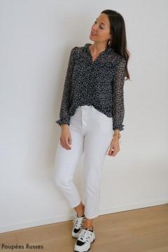 Jeans mom blanc