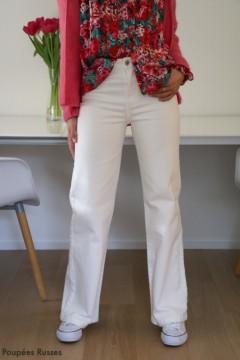 Jeans large blanc