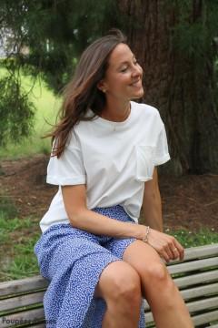 T-shirt blanc poche