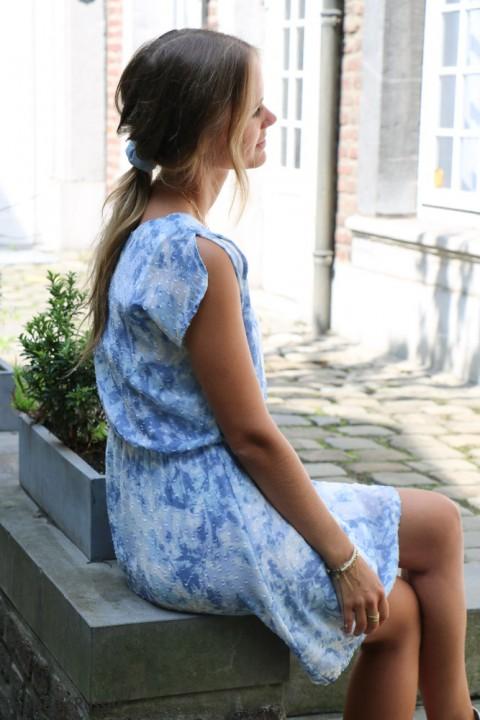 Robe Iris bleue