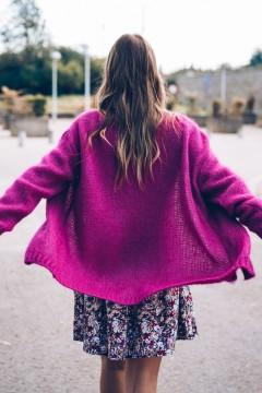 Gilet Nora violet