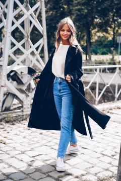 Manteau noir long