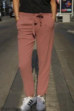 Pantalon fluide vieux rose